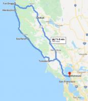 Day trip to Fort Bragg (from Richmond, CA) and back. May 23rd, 2020