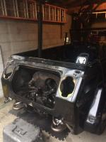 Engine fire damage - Repairs begin