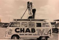 Logoed TV bus