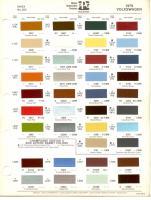 1979 VW Color Chart