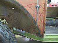 1954 Canadian custom quarter panel repair