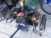 Engine fire damage - Repairs begin
