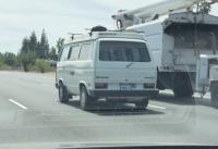 on freeway