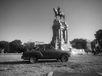 Karmann Ghia at General Robert E Lee monument