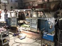 1966 21 window cargo rocker repair