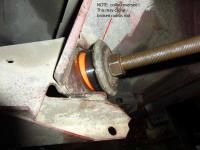 radius rod washer collar direction