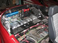 Karmann Ghia cabriolet rear seat area