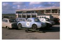 Bus at 1960 Rouen GP event.