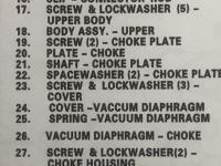 Solex 32-34 PDSIT choke plate washers / rebuild kit washers
