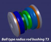 ball type radius rod bushing