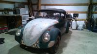 62 bug convertible restoration
