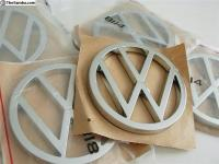 Chrome Mexican Beetle VW emblem