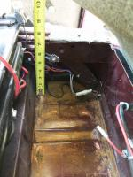 Driver seat side battery box dimensions