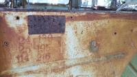 Number stamped on bulkhead
