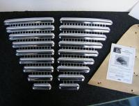 PEROHAUS CHROME HOOD GRILL FOR EARLY VOLKSWAGEN SPLIT BUG / KDF