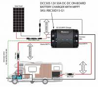 Renogy DCC50S diagram DC-DC charger MPPT