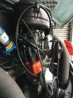 1971 Super Beetle engine compartment