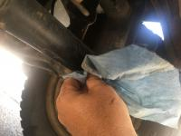 Greasing front beam