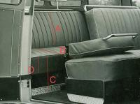 Rear seat measurements