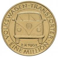 October 2nd, 1962 - Eine (one) million Volkswagen Transporters produced