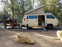 1980 Vanagon with motorcycle trailer