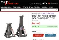 Gray jack stands