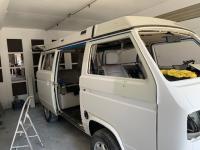 Van being painted