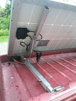 solar panel in Westy cargo area