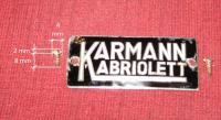 Karmann Kabriolett Badge and Screws