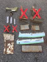 split bus metal scraps...