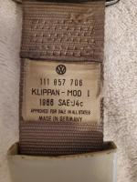 1967 Retractable Seat belt labels - original sedan