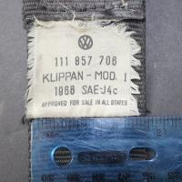 1967 Retractable Seat belt labels - original sedan?