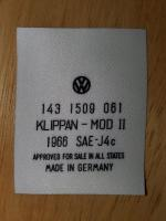 1967 Retractable Seat belt labels - reproduction convertible