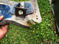 Wheel well rust repair