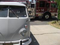 Firetruck paramedics rescue neighbor