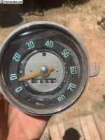 Blue Number Speedometer
