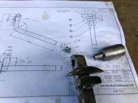 VW 734 rain drip mould deflanging tool