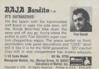 Baja Bandito model description card