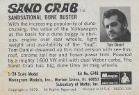 Sand Crab Dune buster model image and description card