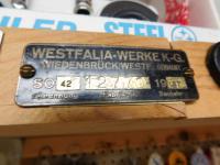 Very late 1967 Westfalia fabrik # brass ID plate