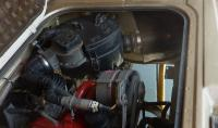 Syncro rotational air/debris separator in a 2WD