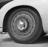very rare vintage magnesium wheels on a Pre A 356 Porsche