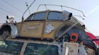 """Art Cars"" with destroyed bugs in Goldfield, NV"
