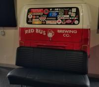 Quick stop at Red Bus Brewing Company in Folsom, CA to fill our growler.