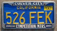 Competition Motors plate frame - Culver City, CA