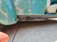 Running board fastening plate repair panel