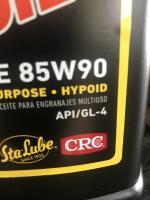 Sta-Lube 85-90 GL-4 gear oil