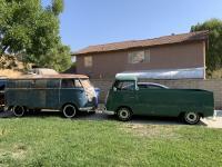 1966 Velvet Green Single Cab Pickup meets 1956 Dove Blue Panelvan