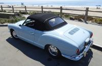 1967 Karmann Ghia Convertible, top up.