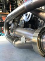 """A1 new quiet 2 1/2"""" muffler and egt bungs welded in"""